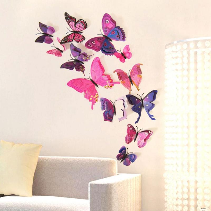3d Motyle Na ścianę Fioletowe Artykuły Gospodarstwa Domowego Xdomowopl